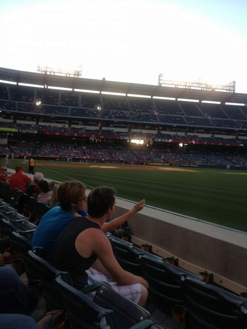 Seating view for Angel Stadium Section F131 Row C Seat 15