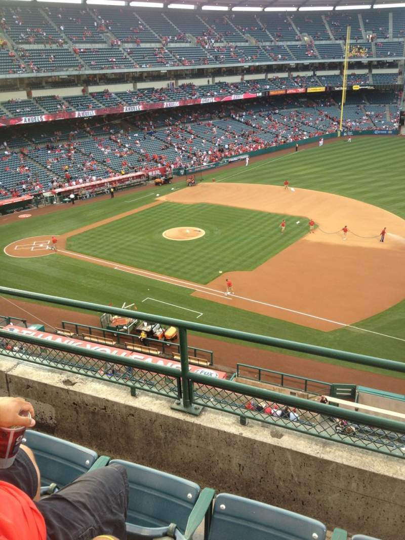 Seating view for Angel Stadium Section V427 Row C Seat 7