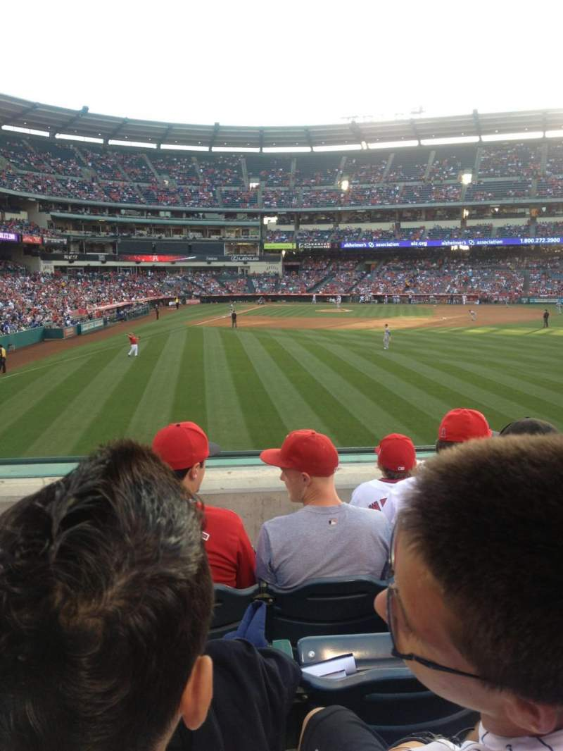 Seating view for Angel Stadium Section 236 Row E Seat 3