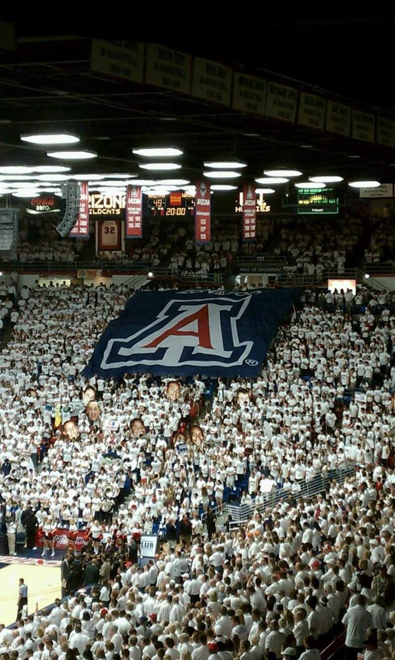 Seating view for McKale Center Section 104 Row 33 Seat 5