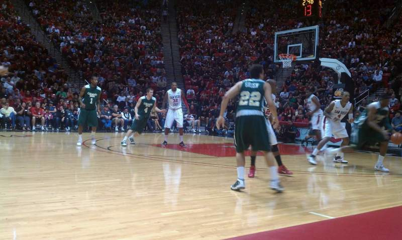 Seating view for Viejas Arena Section Home Bench