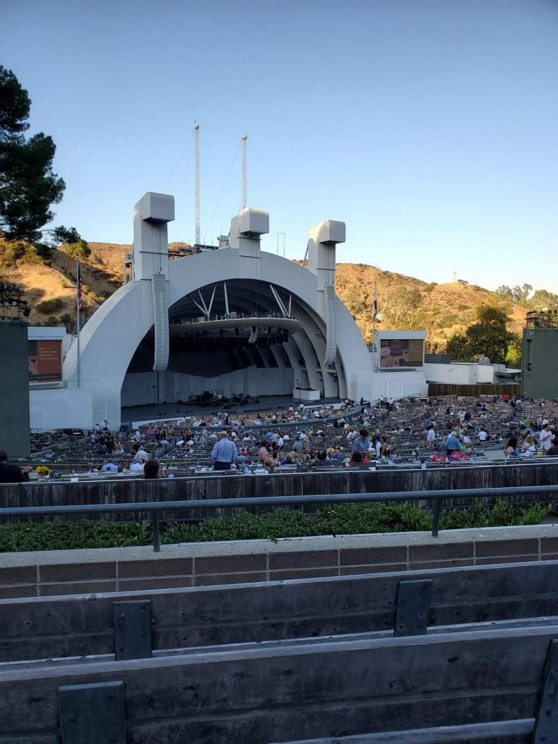 Seating view for Hollywood Bowl  Section K2 Row 4 Seat 105