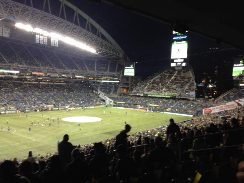 Seating view for Centurylink Field Section 215 Row Y Seat 7