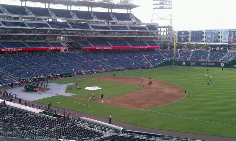 Seating view for Nationals Park Section 223 Row L Seat 1