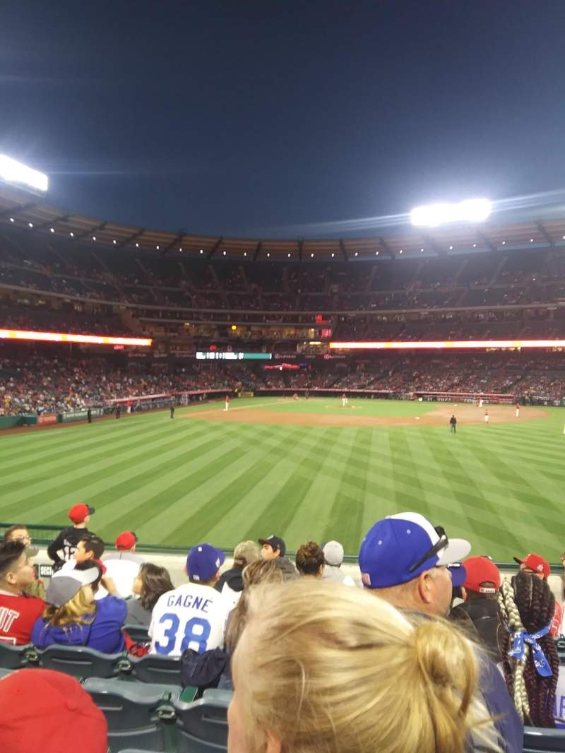 Seating view for Angel Stadium Section P238 Row H Seat 5