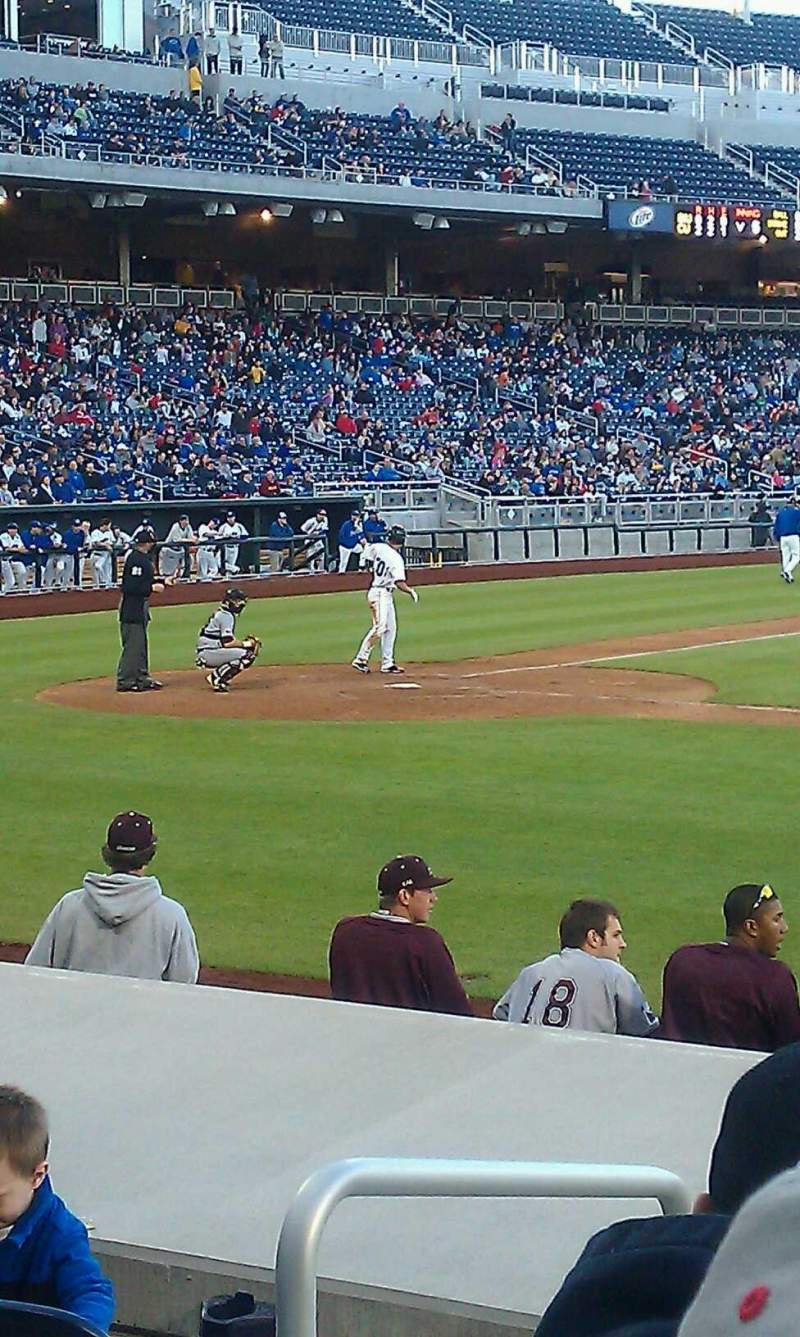 Seating view for TD Ameritrade Park Section 107 Row 10 Seat 15