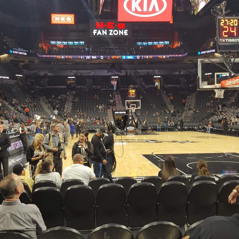 Seating view for AT&T Center Section 101 Row 7 Seat 6