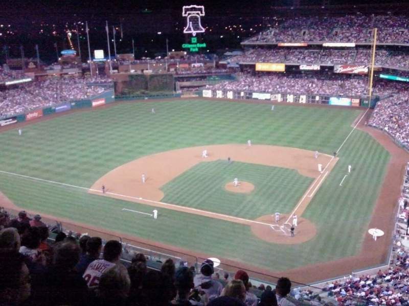 Seating view for Citizens Bank Park Section 423 Row 7 Seat 1