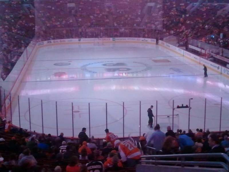 Seating view for Wells Fargo Center Section CC118 Row 1 Seat 22