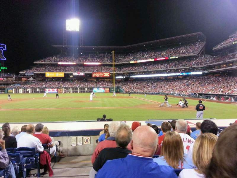Seating view for Citizens Bank Park Section 129 Row 9 Seat 5