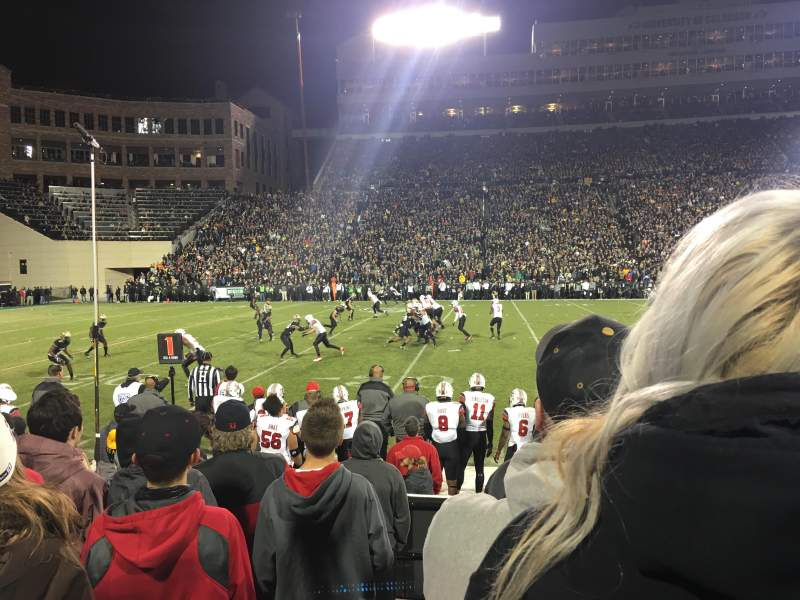 Seating view for Folsom Field Section 105 Row 8 Seat 1