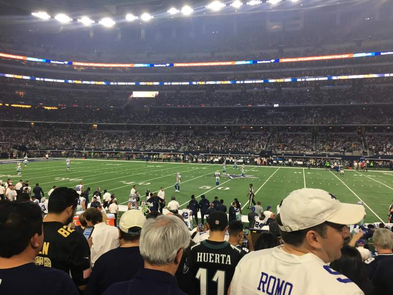 Seating view for AT&T Stadium Section C110 Row 7 Seat 5