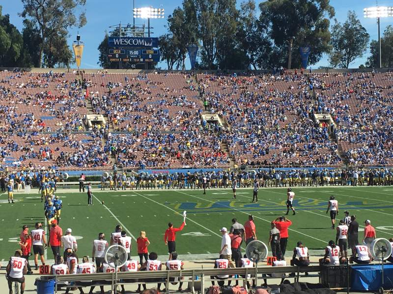Seating view for Rose Bowl Section 18-L Row 14 Seat 17