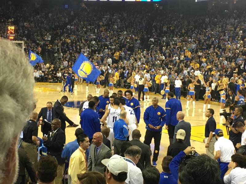 Seating view for Oracle Arena Section 124 Row 4 Seat 14