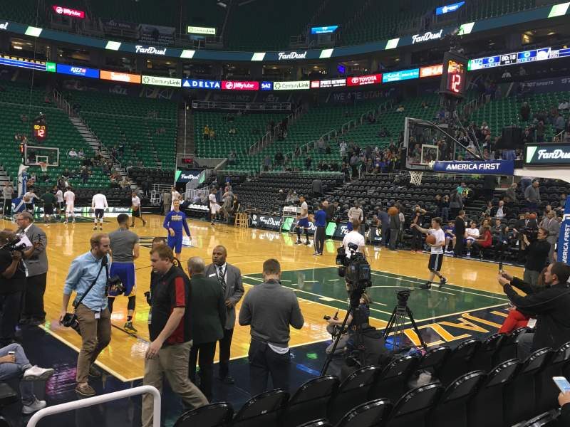 Seating view for Vivint Smart Home Arena Section 13 Row 5 Seat 15