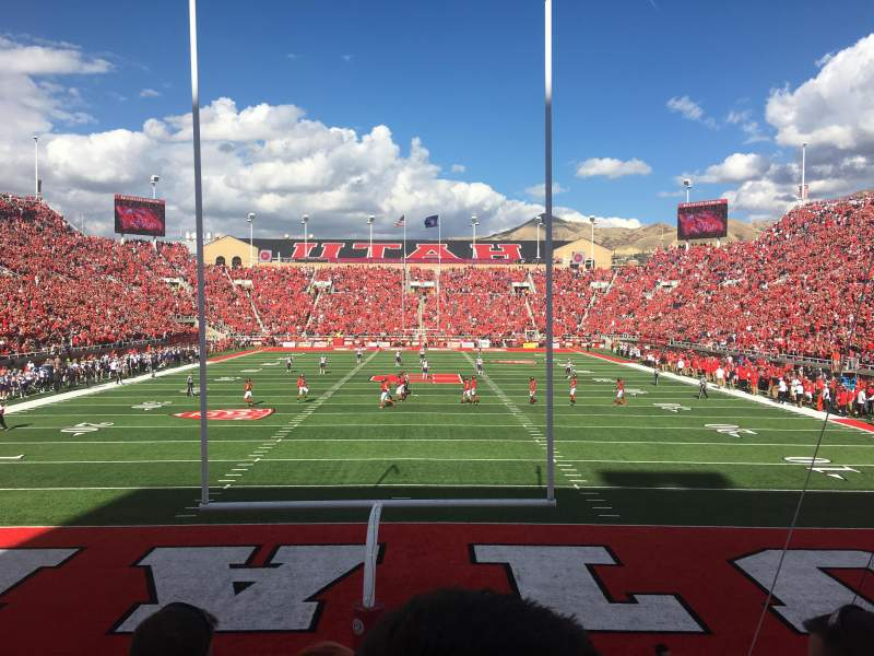 Seating view for Rice-Eccles Stadium Section S03 Row 3 Seat 8