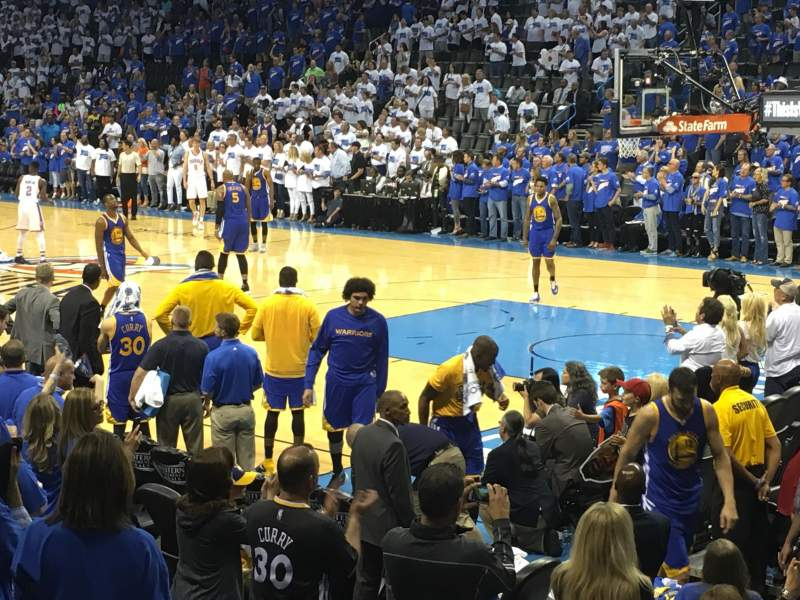 Seating view for Chesapeake Energy Arena Section 113 Row G Seat 5