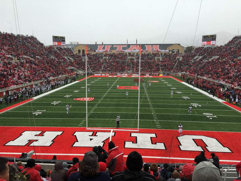 Seating view for Rice-Eccles Stadium Section S3 Row 14 Seat 6
