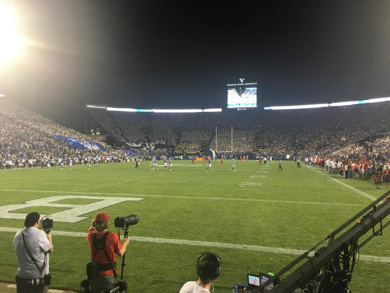 LaVell Edwards Stadium, section: 24, row: 1, seat: 10