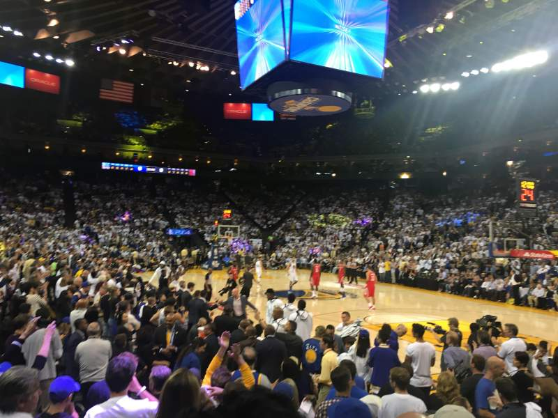 Oracle Arena, section: 124, row: 4, seat: 10