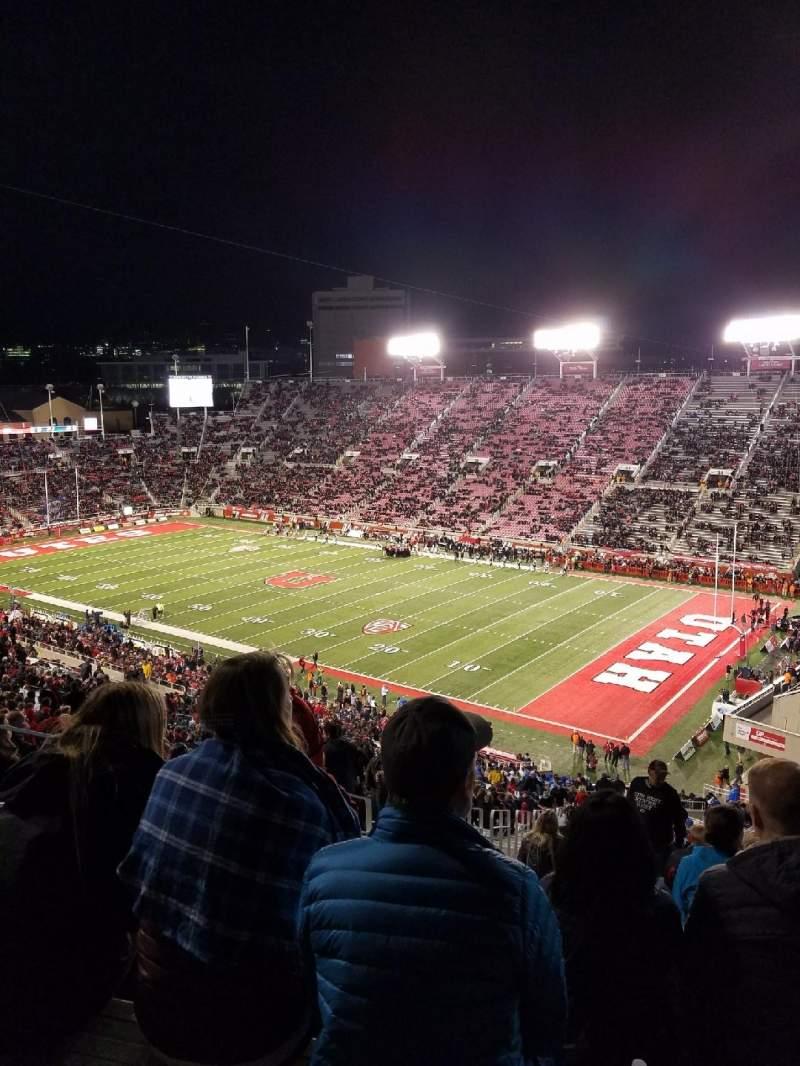 Rice-Eccles Stadium, section: W7, row: 59, seat: 4