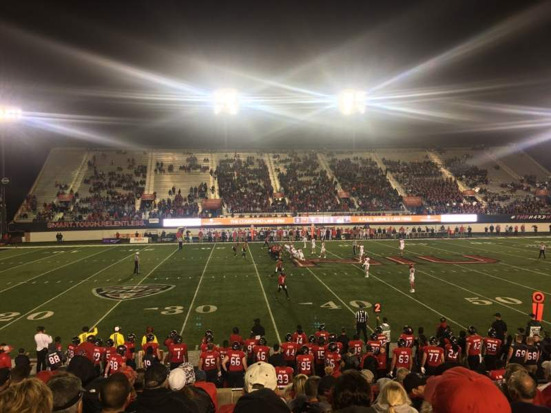 Seating view for Huskie Stadium Section PREM E Row 10 Seat 11