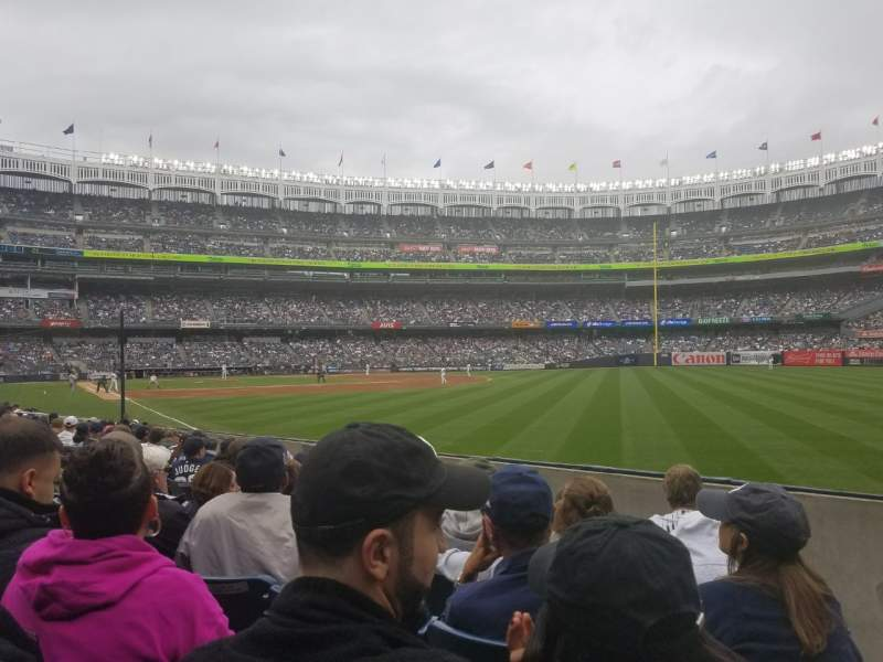 Seating view for Yankee Stadium Section 109 Row 7 Seat 1