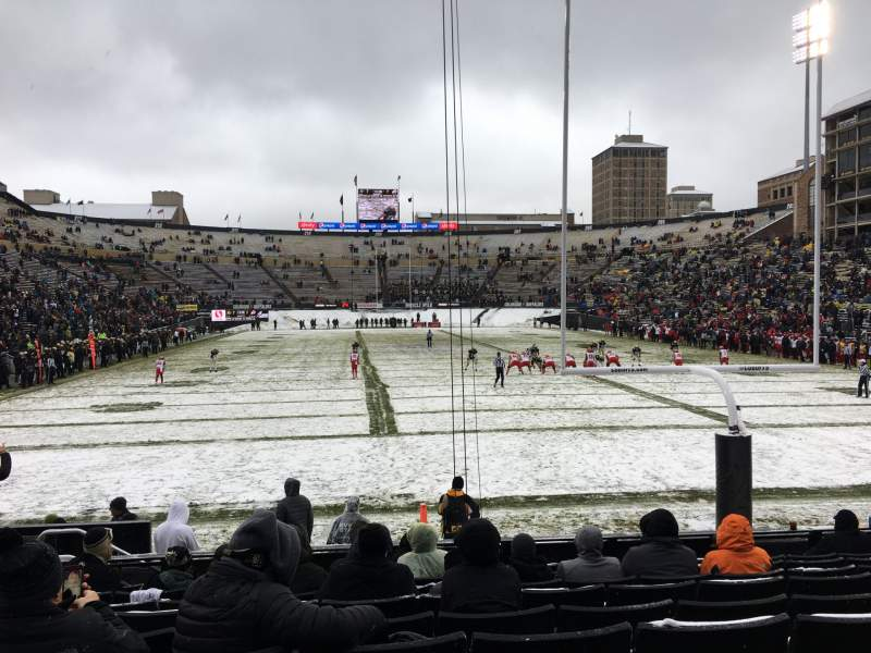 Seating view for Folsom Field Section 1 Row 9 Seat 8