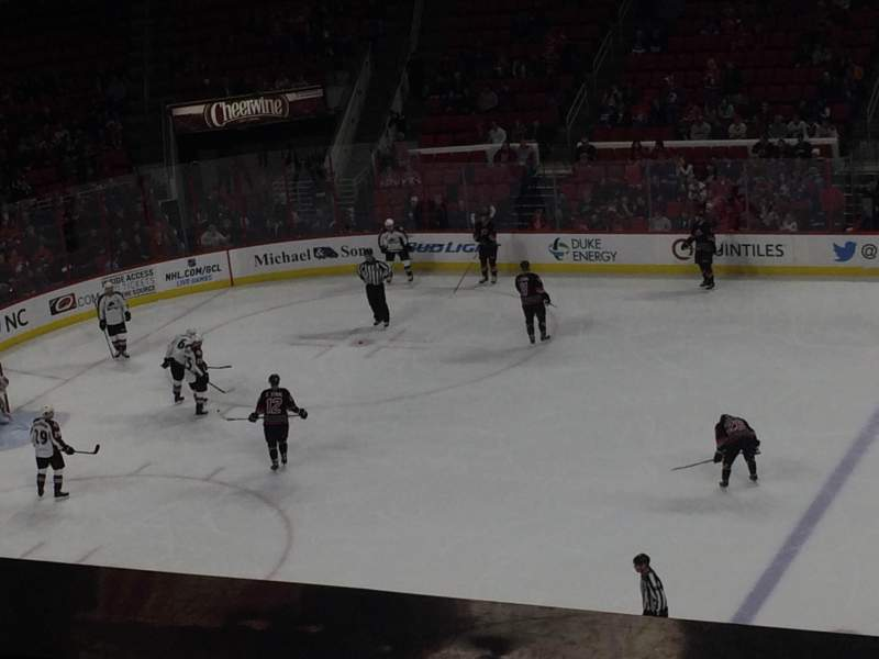 Seating view for PNC Arena Section 220 Row A
