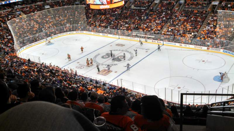Seating view for Wells Fargo Center Section 204 Row 10