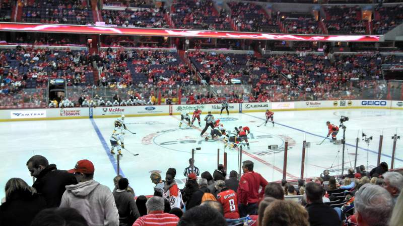 Seating view for Verizon Center Section 110 Row P