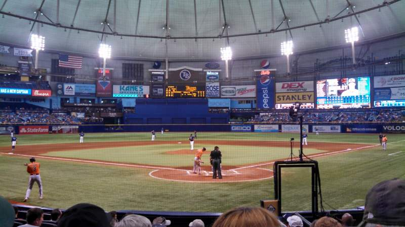Seating view for Tropicana Field Section 101 Row Q