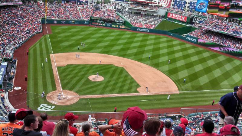 Seating view for Nationals Park Section 416 Row G