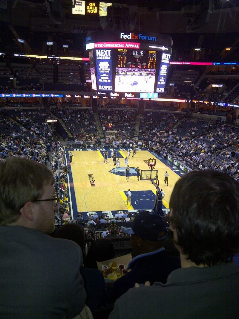 Seating view for FedEx Forum Section 118 Row hh