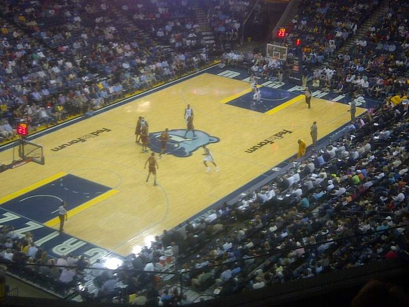 Seating view for FedEx Forum Section 204 Row c