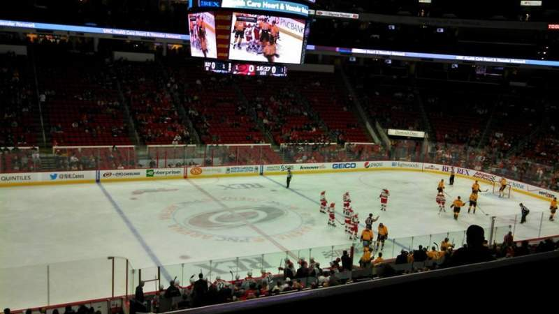 Seating view for PNC Arena Section 106 Row YY
