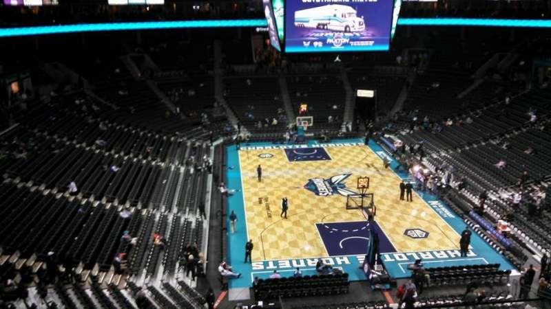 Seating view for Spectrum Center Section 218 Row A2