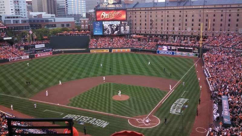 Seating view for Oriole Park at Camden Yards Section 342 Row 10