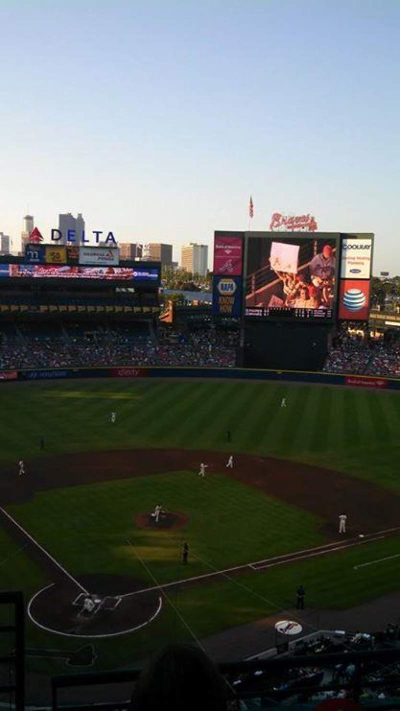 Seating view for Turner Field Section 403R Row 3