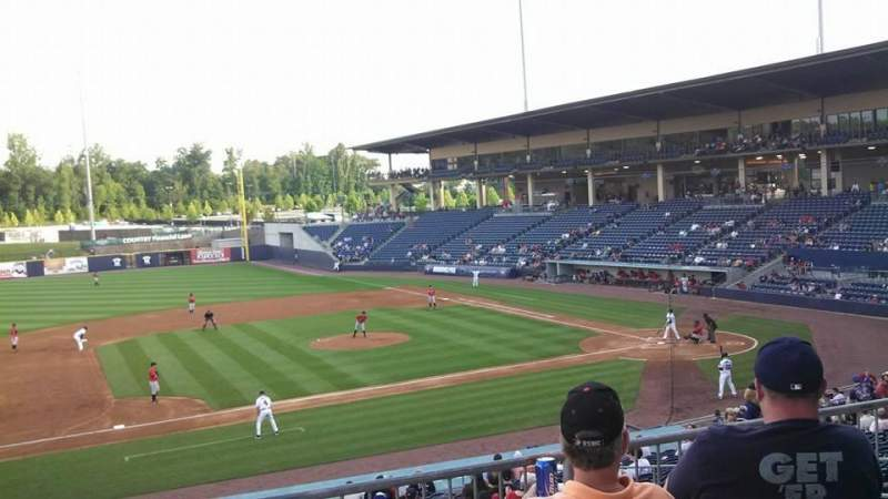Seating view for Coolray Field Section 112
