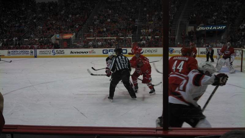 Seating view for PNC Arena Section 116 Row C