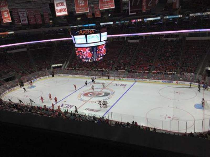 Seating view for PNC Arena Section 302 Row A Seat 12