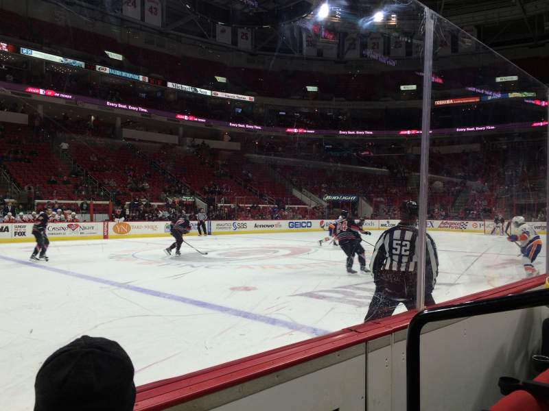 Seating view for PNC Arena Section 121 Row B Seat 2