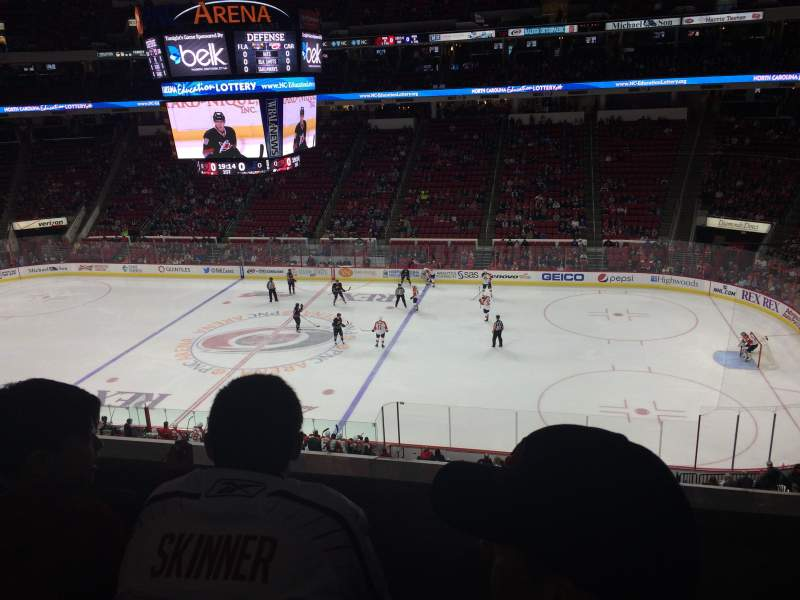 Seating view for PNC Arena Section 202 Row B