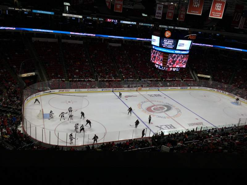 Seating view for PNC Arena Section 306 Row A Seat 22