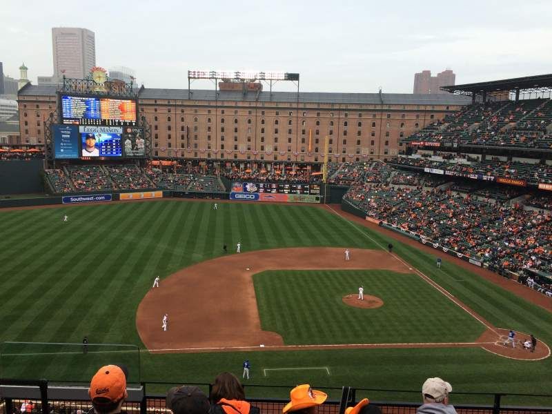 Seating view for Oriole Park at Camden Yards Section 354 Row 4