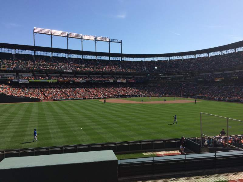 Seating view for Oriole Park at Camden Yards Section SRO