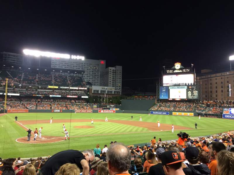 Seating view for Oriole Park at Camden Yards Section 30 Row 25