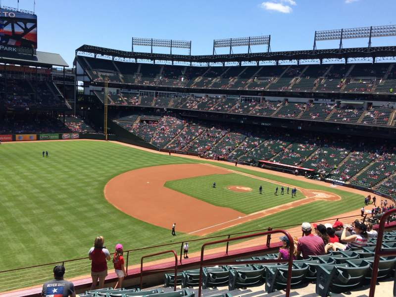 Seating view for Globe Life Park in Arlington Section 214 Row 10