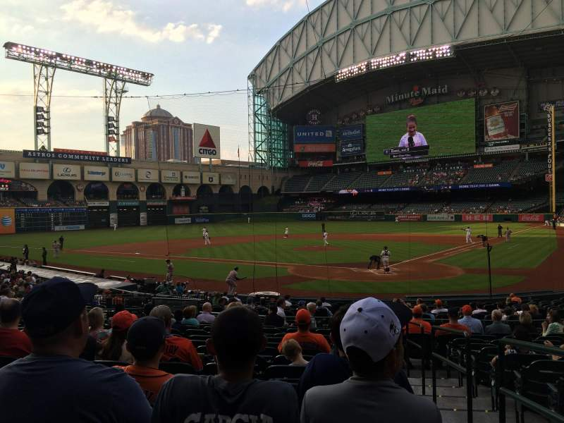 Seating view for Minute Maid Park Section 118 Row 25